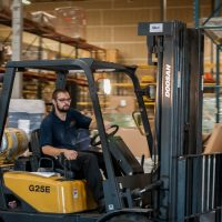 Driving Forklift - American Western Distribution